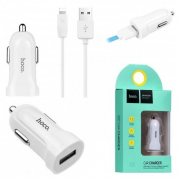 Азу Hoco Z2 Single-Port Car Charger Usb 1,5a (белое)